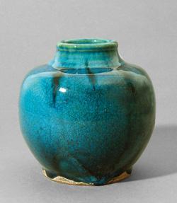 Paul Dresler - blaugrün glasierte Töpferware
